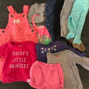 Overalls, Leggings, Tops 10 Piece Bundle